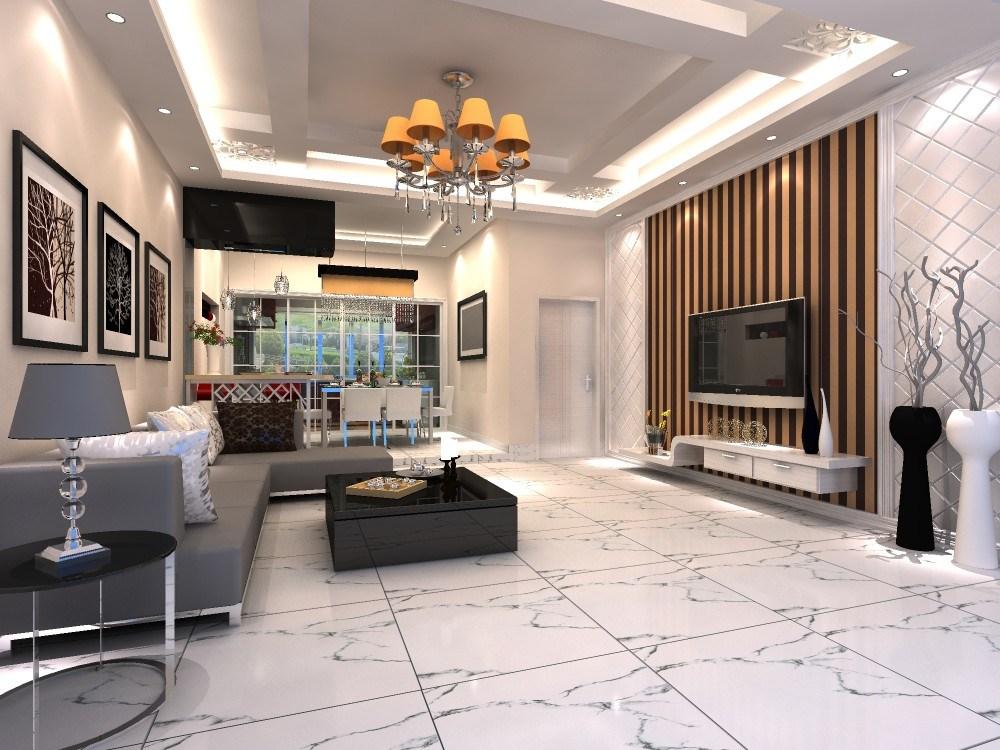 Calacatta White Glazed Porcelain Floor Tile Tile Design Ideas