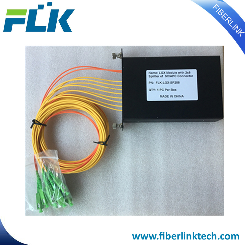 China Fiber Optic Lgx Module Cassette PLC Splitter with Pigtail for ...