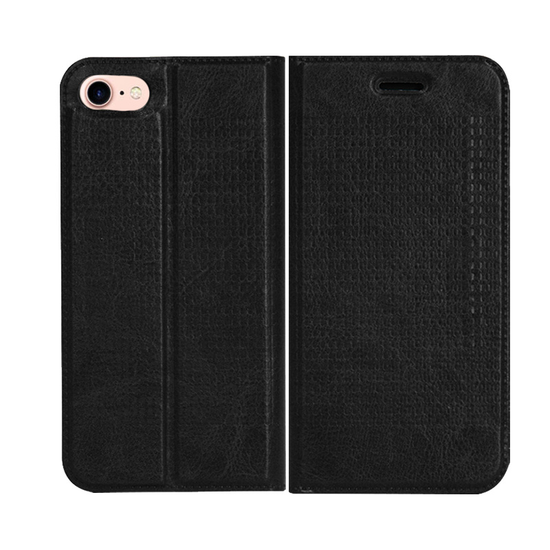 big sale acb05 cbf17 [Hot Item] New Clamshell Magnetic Adsorption Card Wallet Cell Phone Holster  Phone Cases for Iphonex for iPhone 7 Case