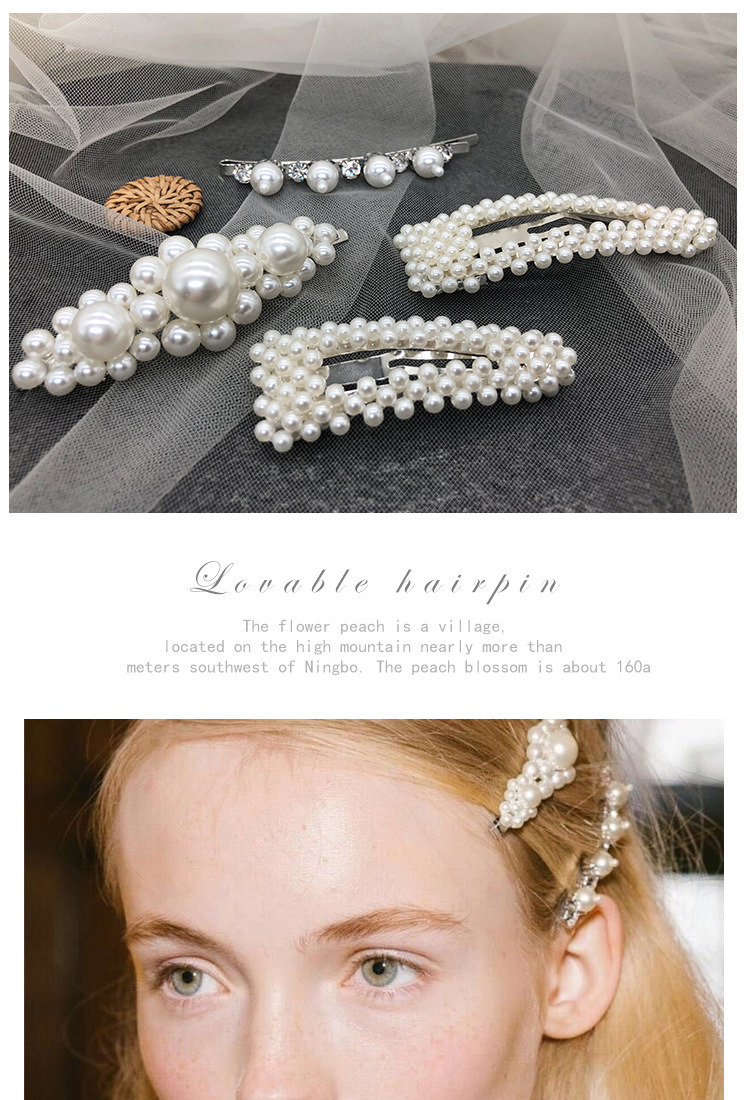 fafd0c8a0de95 Ins Popular Women Adult Pearl Hairpins Pearl Hair Clips Hair Accessories