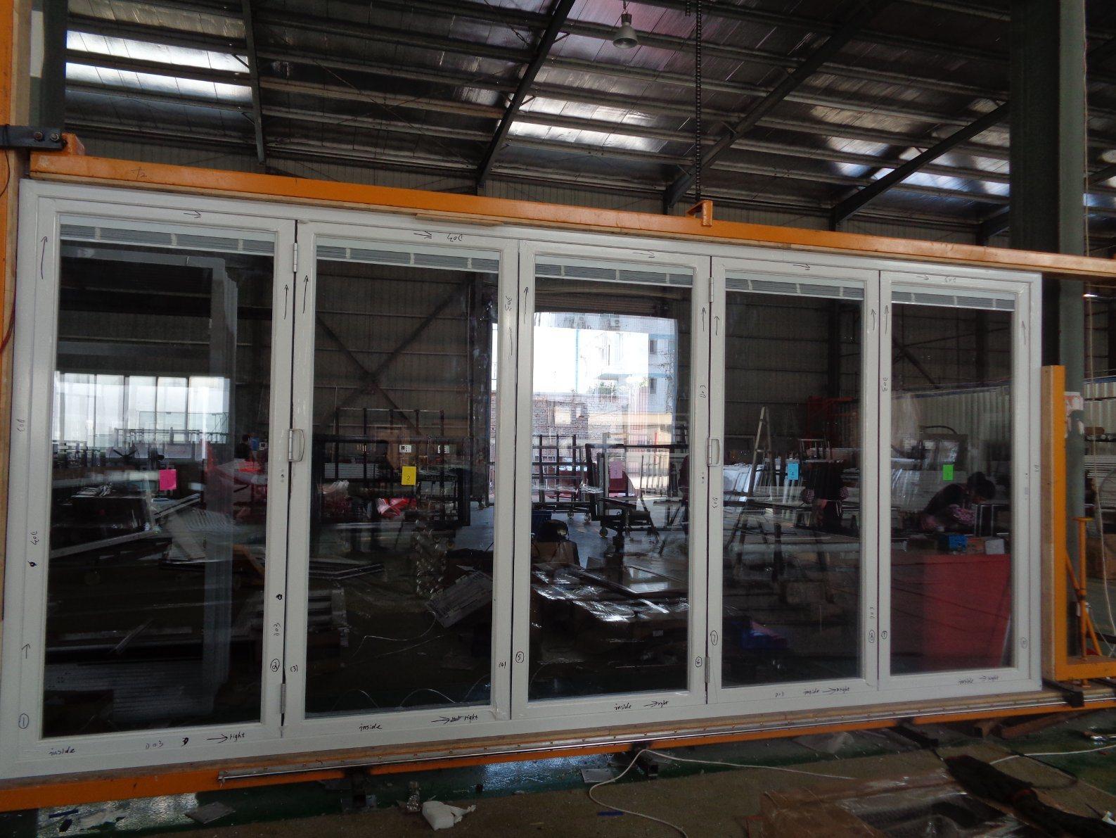 China Decoration Porte Patio Bifold Aluminum French Doors Folding Sliding Glass Doors China Bifold Door Aluminum Door