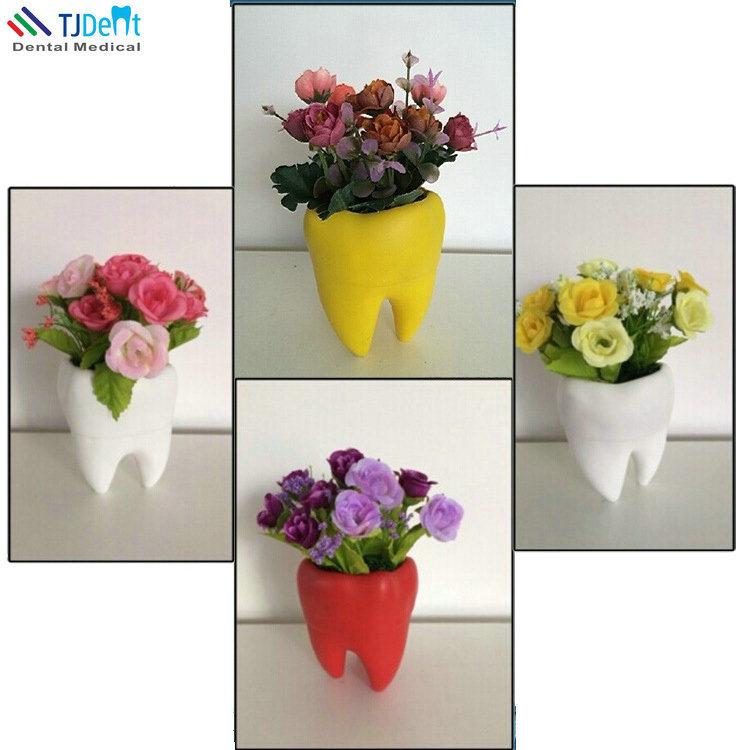 225 & [Hot Item] Dental Clinic Decoration Tooth Shape Flower Pot Flower Vase
