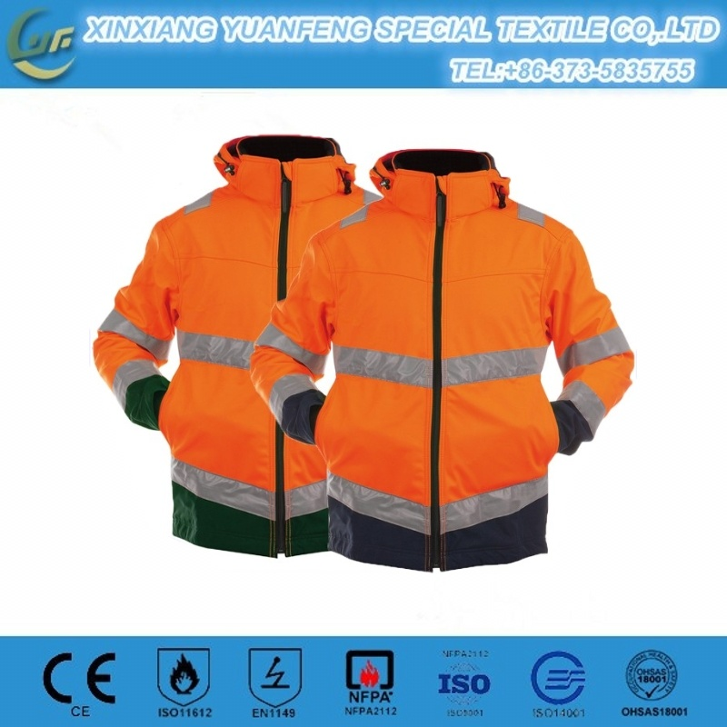 DIN 55473 8 Cal Elecrical Arc Flash Safety Suit with Reflective Tape Anti Static Uniforms pictures & photos