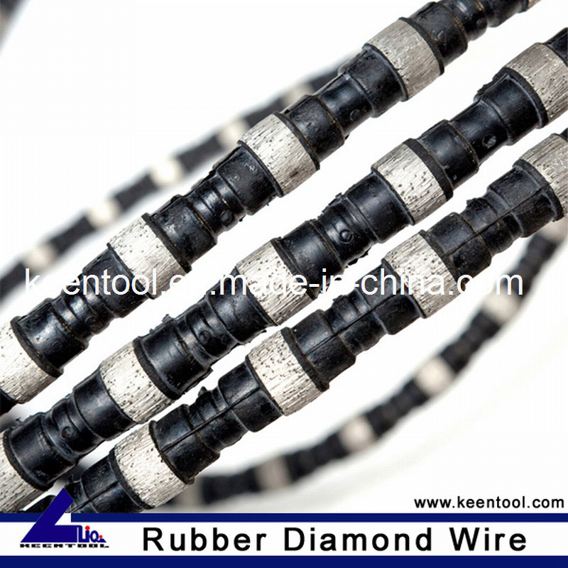 China Rubber+Flat Spring Reinforced Diamond Wire Saw with 10.5mm ...
