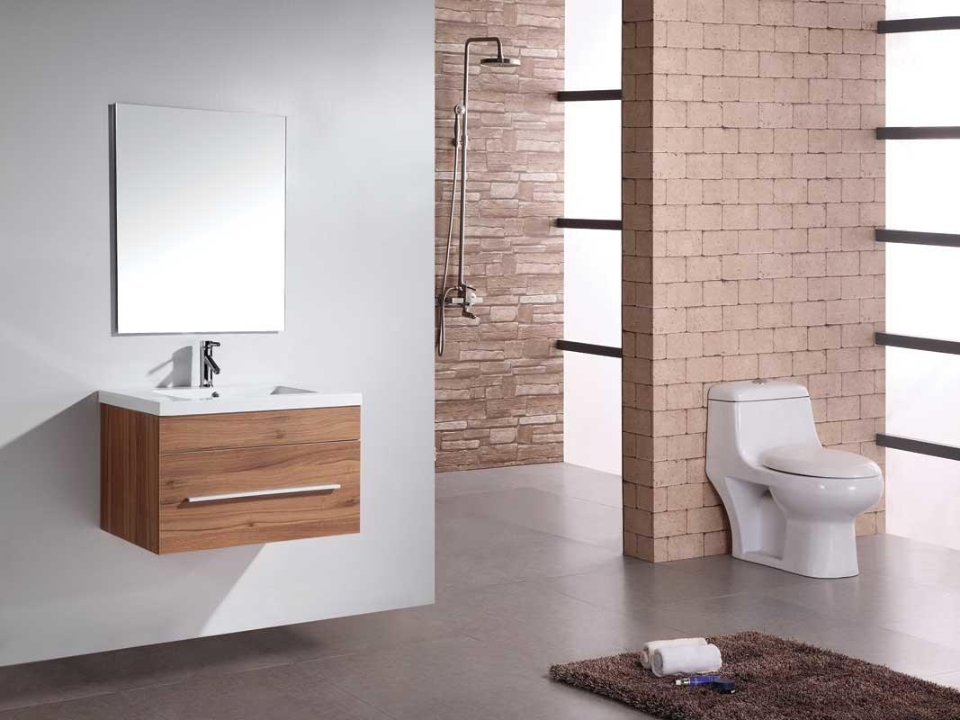 China Acrylic Basin Wholesale MDF Bathroom Cabinet with Mirror ...