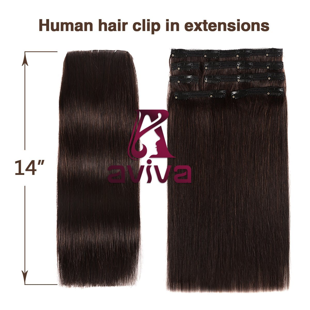 China 100 Human Hair Extension Clip In Hair Extensions 7pcs For