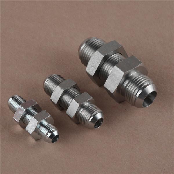 China hydraulic jic male bulkhead fitting adapter tube