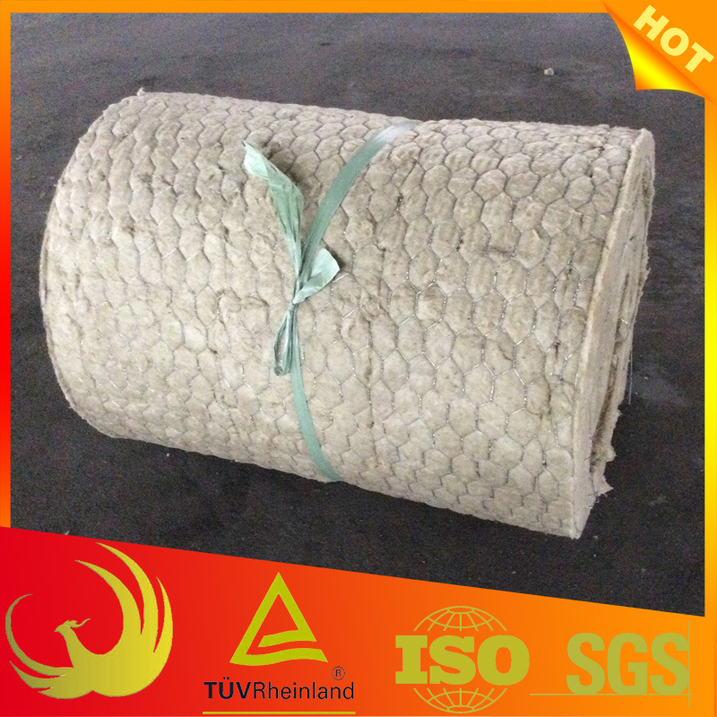 Heat Insulation Material Rokwool Blanket with Chicken Wire Mesh pictures & photos