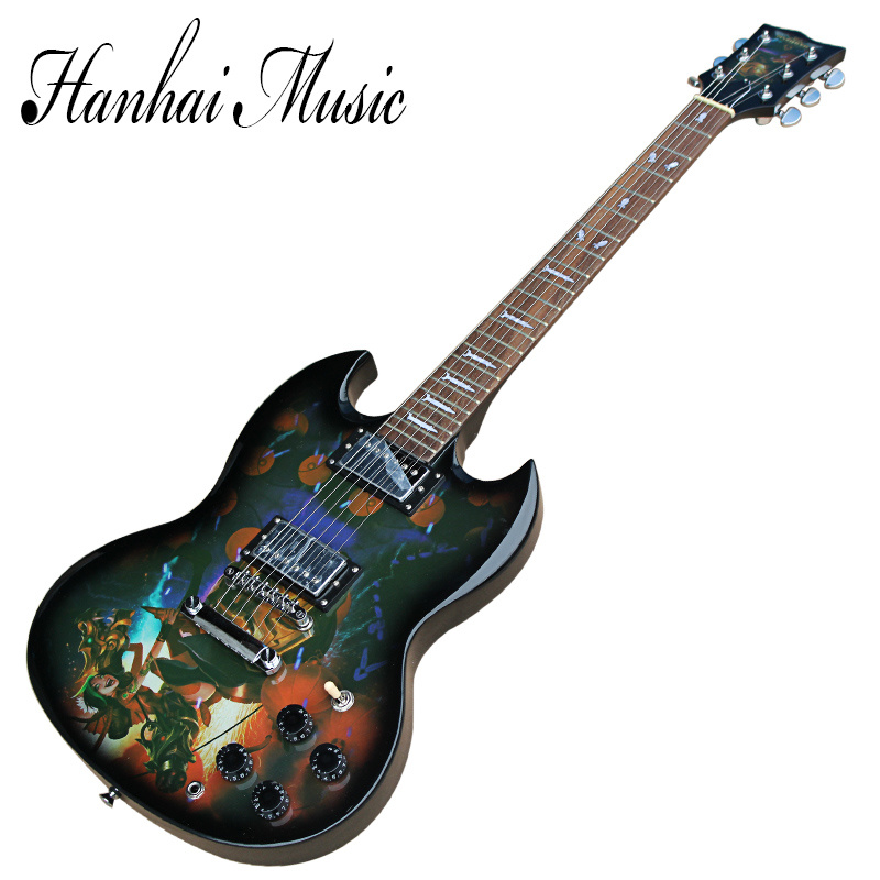Hanhai Music/Sg Style Lol Electric Guitar with Jinx Pattern