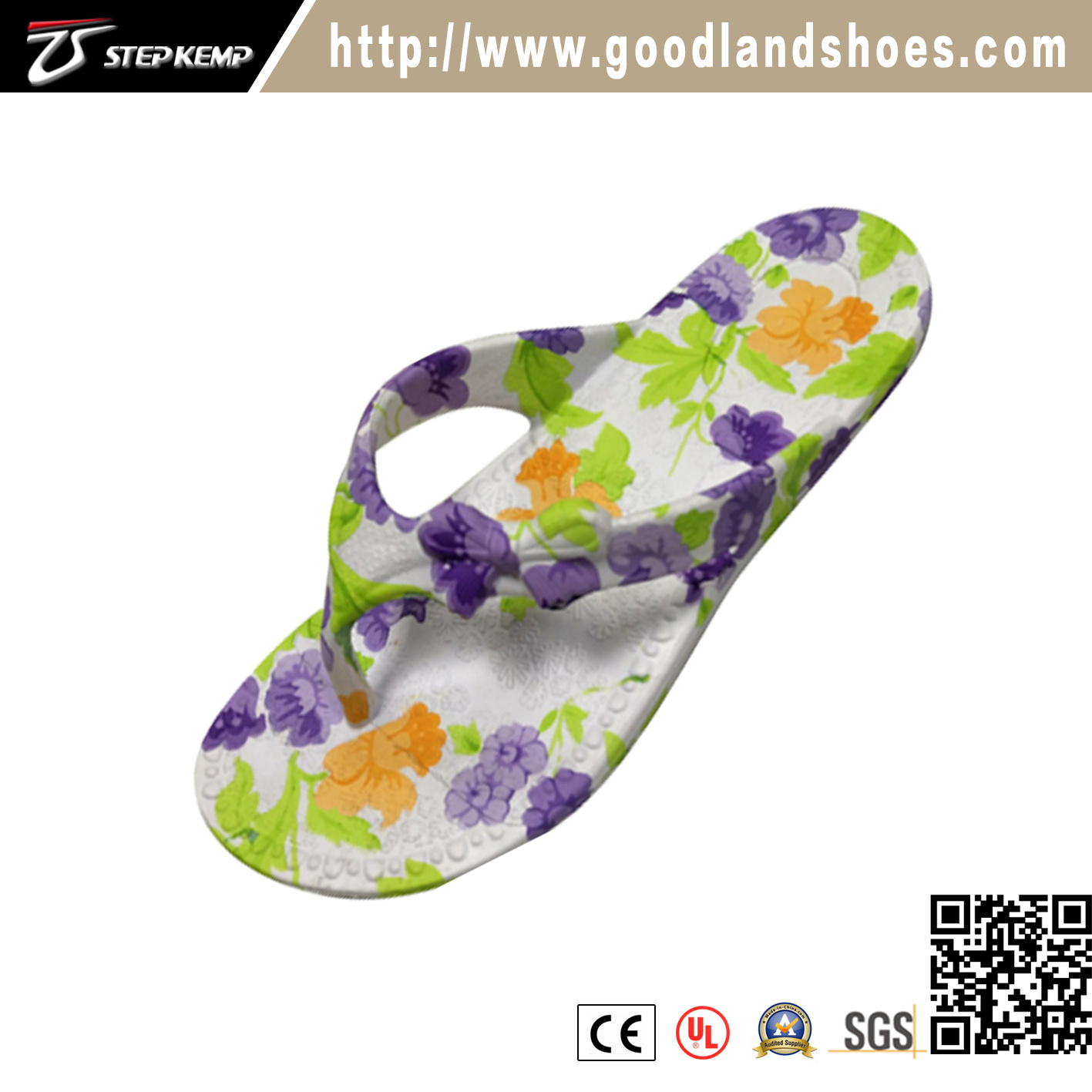 79f660f55 China Casual Comfortable Rubber Women Flower Slippers Flip Flop 20248 -  China Slipper Shoes