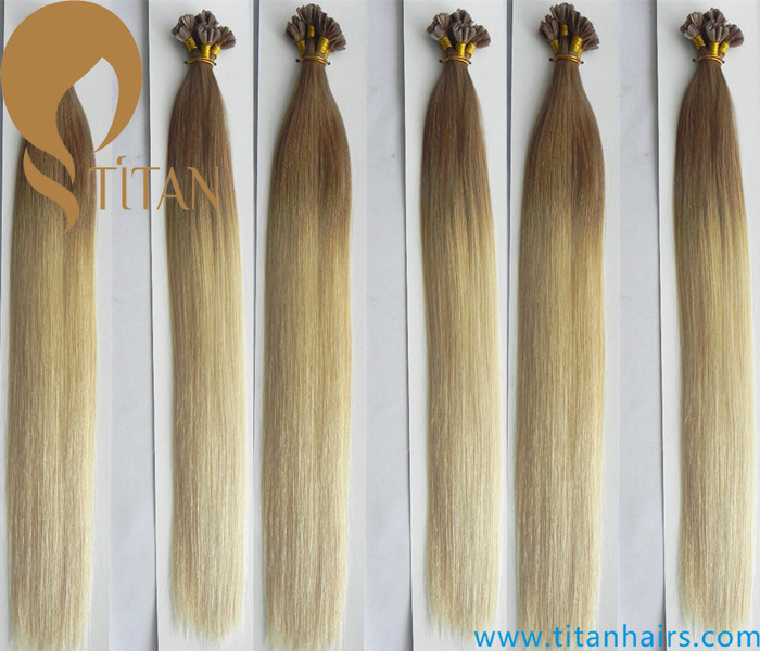 China Ombre Pre Bonded Virgin Human Hair U Tip Hair Extension
