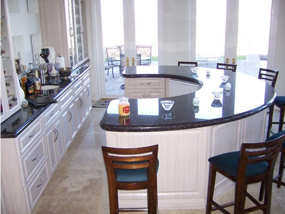 Hot Item Hot Selling Shangxi Black Granite Countertops Kitchen Island Tops