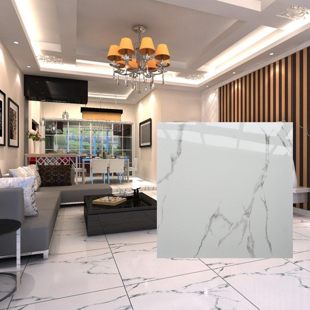 China Bangladesh Dining Hall Waterproof Glazed White Gloss Tile Floor China Flooring Tile Ceramic Tile