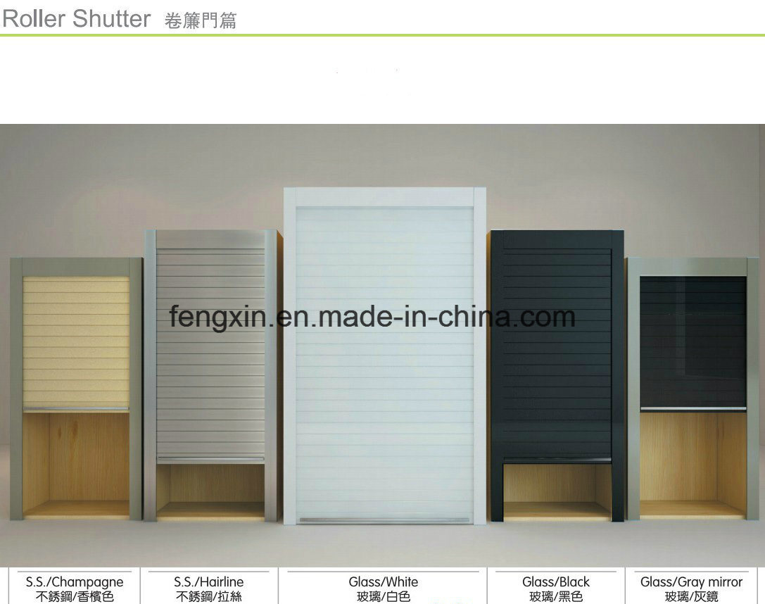 Kitchen Cabinet Roller Shutter Door Remote Control/Automatic Roll up Garage Door