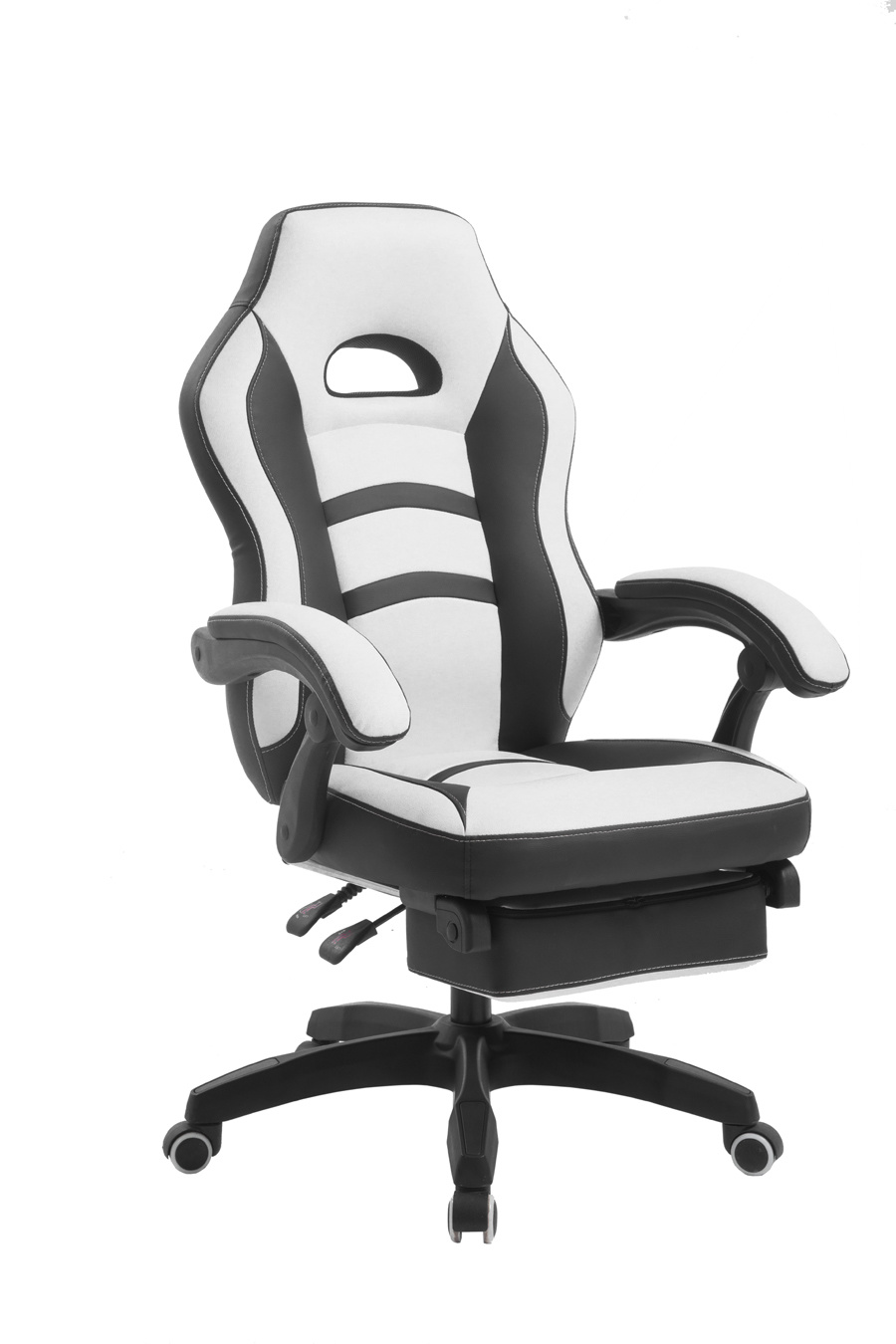 Hot Item Ergonomic Design Computer Gaming Racing Chair With Footrest White