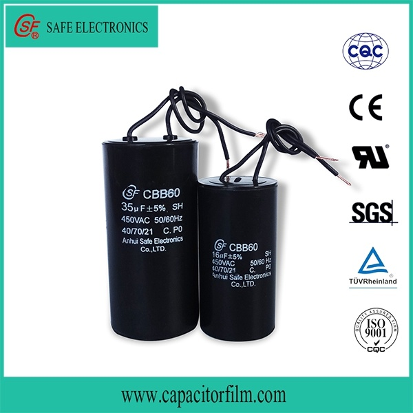 Cbb60 AC Motor Capacitor for Water Pump Used