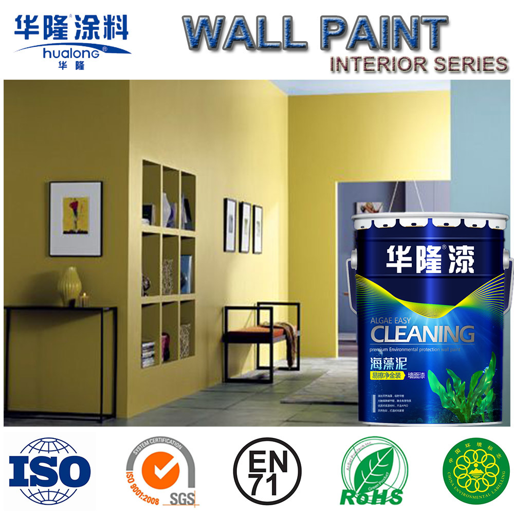 China Hualong Algae Mud Super Anti Mildew Silk Gloss Wall Paint Acrylic