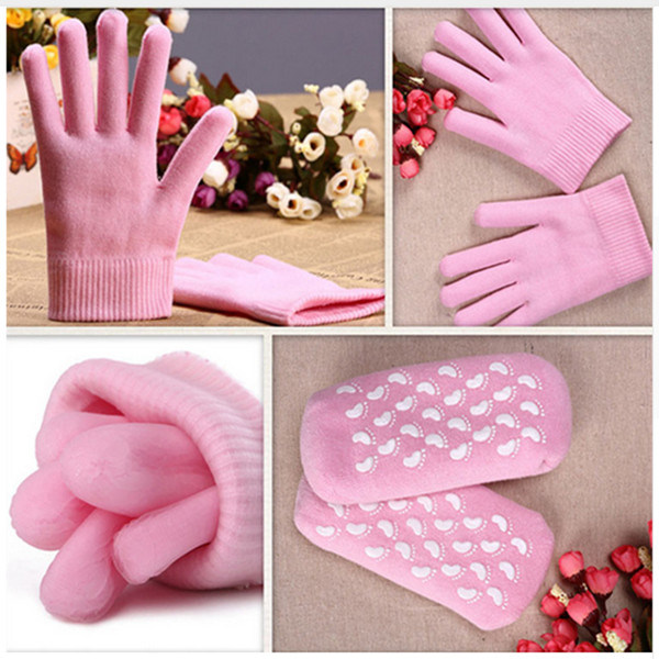SPA Set Gel Gloves and Gel Socks for Skin Care, Anti-Dry and Exfoliating, Whitening pictures & photos