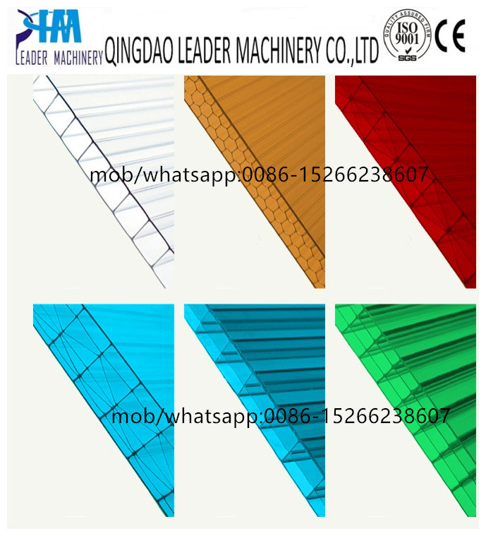 Polycarbonate PC Hollow Grid Sheet/Plate/Board Roofing Sunshine Panel Extrusion Line pictures & photos