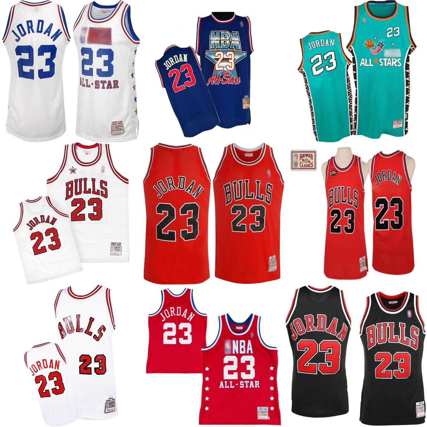 best sneakers 45dcc 5c8bf [Hot Item] Chicago Bulls 23 Michael Jordan Cooperstown Throwback Turn-Back  Basketball Jerseys