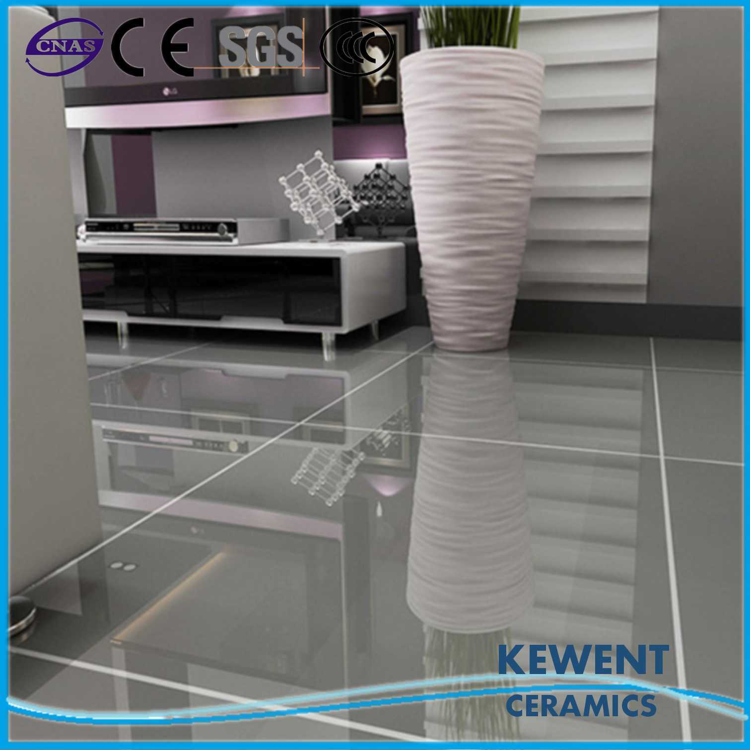 China Good Price Pure Grey Color Polished Porcelain Floor Tiles