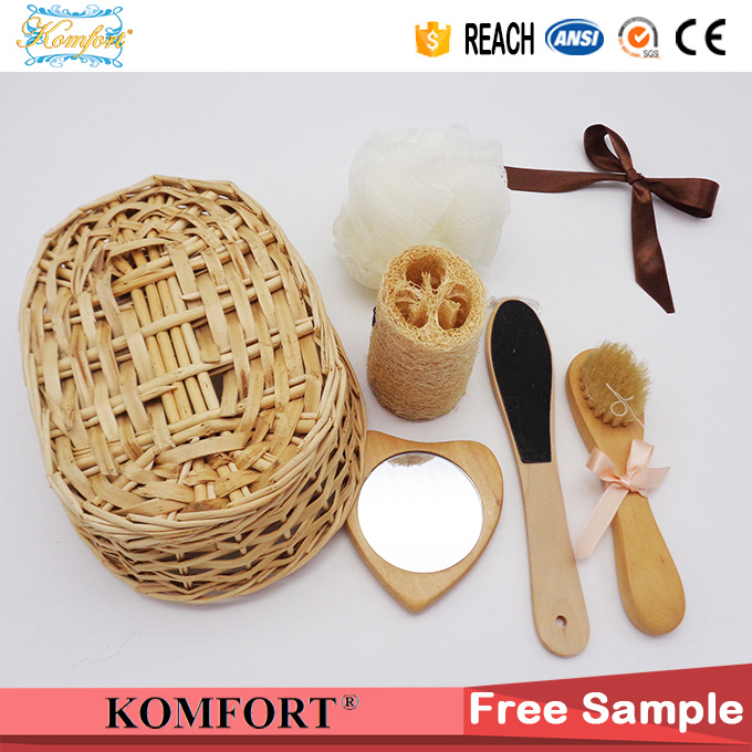 Bath Gift Set for Kids, High Quality Wood Bath SPA Product Gift Set (JMHF-119) pictures & photos