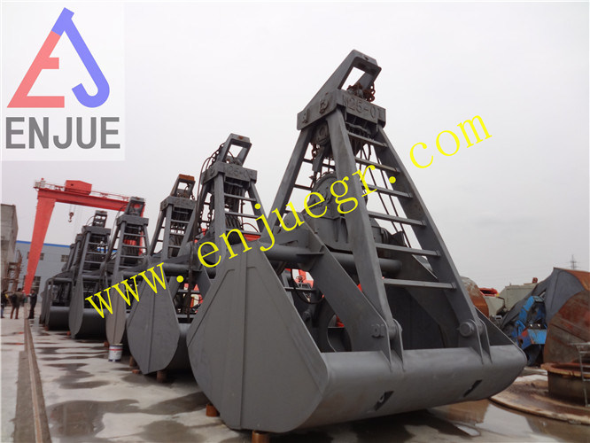 Four Ropes Mechanical Clamshell Grab Bucket for Grain