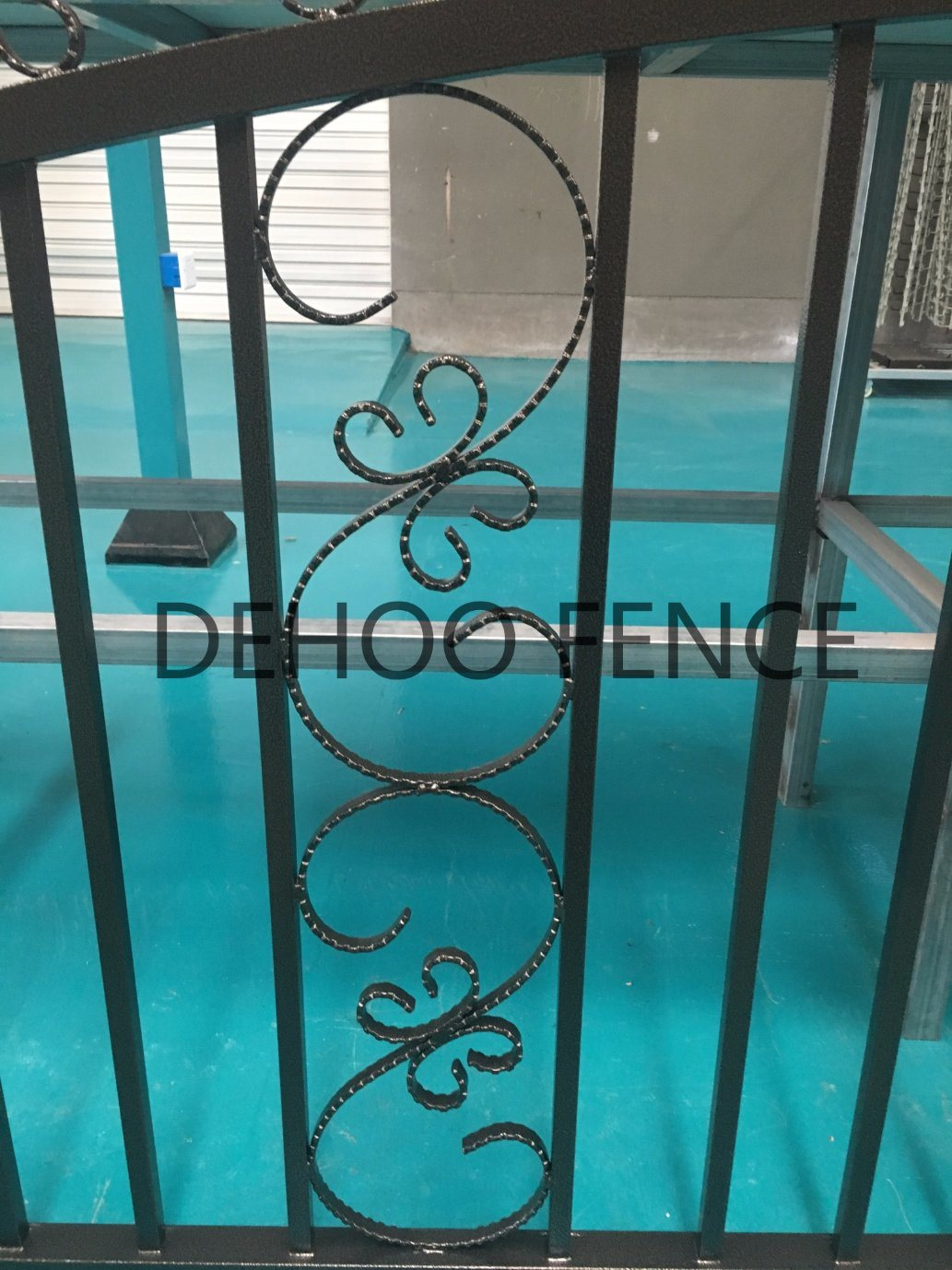 Ce/SGS Bronze Powder Coated Galvanized Steel Gate for Decoration and Protection