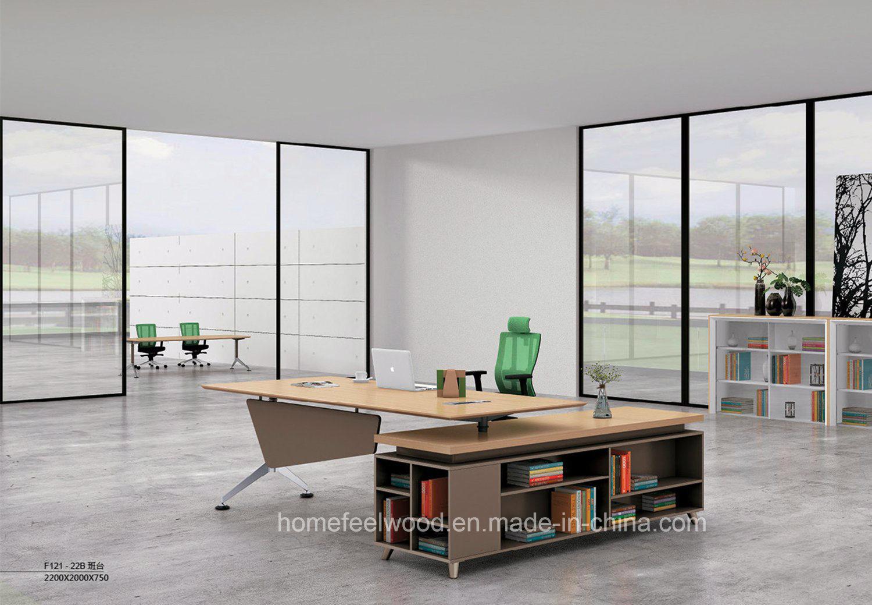 China Modern Executive Desk L Shape Modular Office Furniture Hf