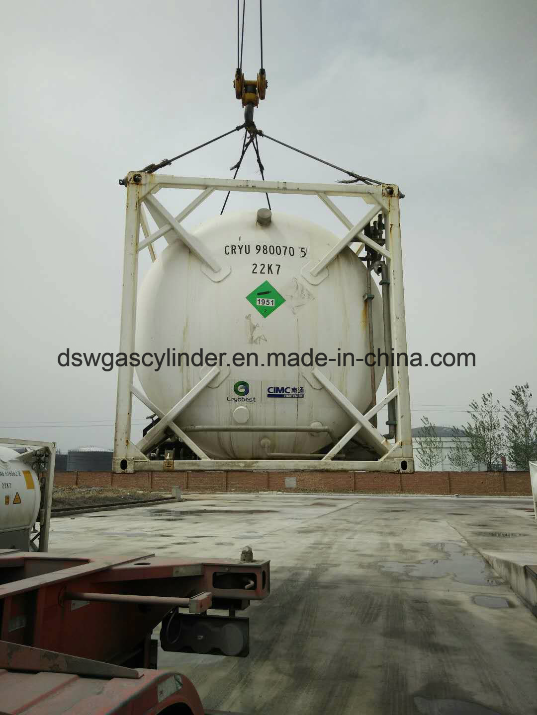 China Asme Certified 20ton Nitrous Oxide Iso Tank China 20ton N2o