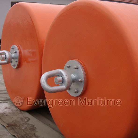 Cylindrical Buoy, Support Buoy, Pick up Buoys, EVA Foam Buoyancy Buoys with PU Skin