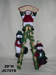 China Christmas Ladder Climbing Snowman China Snowman
