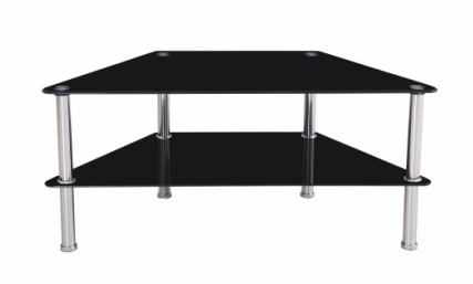 Modern Black Glass TV Stand