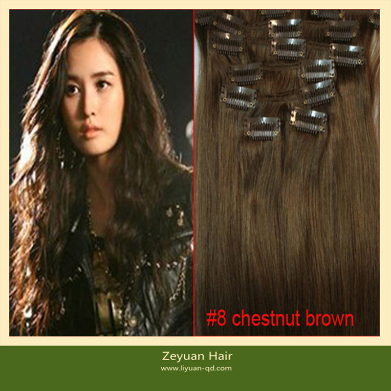 China 220 Gram Clip On Human Hair Extension C 013 China Clip On