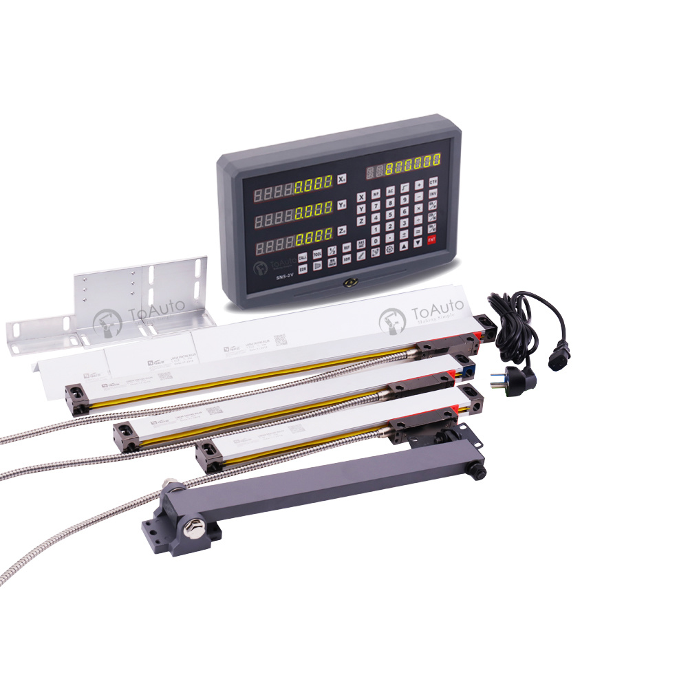2//3 Axis Digital Readout TTL Linear Glass Scale DRO Encoder Kit Milling Lathe US