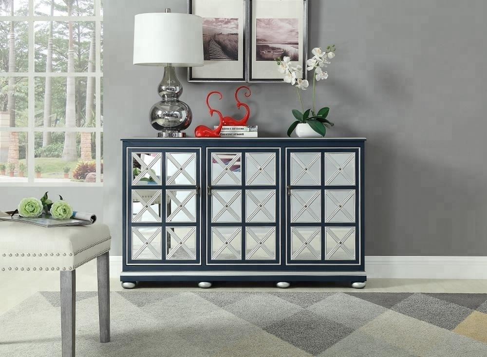 China Wholesale 3 Doors Modern Mirrored Bedroom Furniture Sideboard High End Compact Home Furniture Mirrored Cabinet Chest Sideboard China Sideboard Cabinet Home Furniture