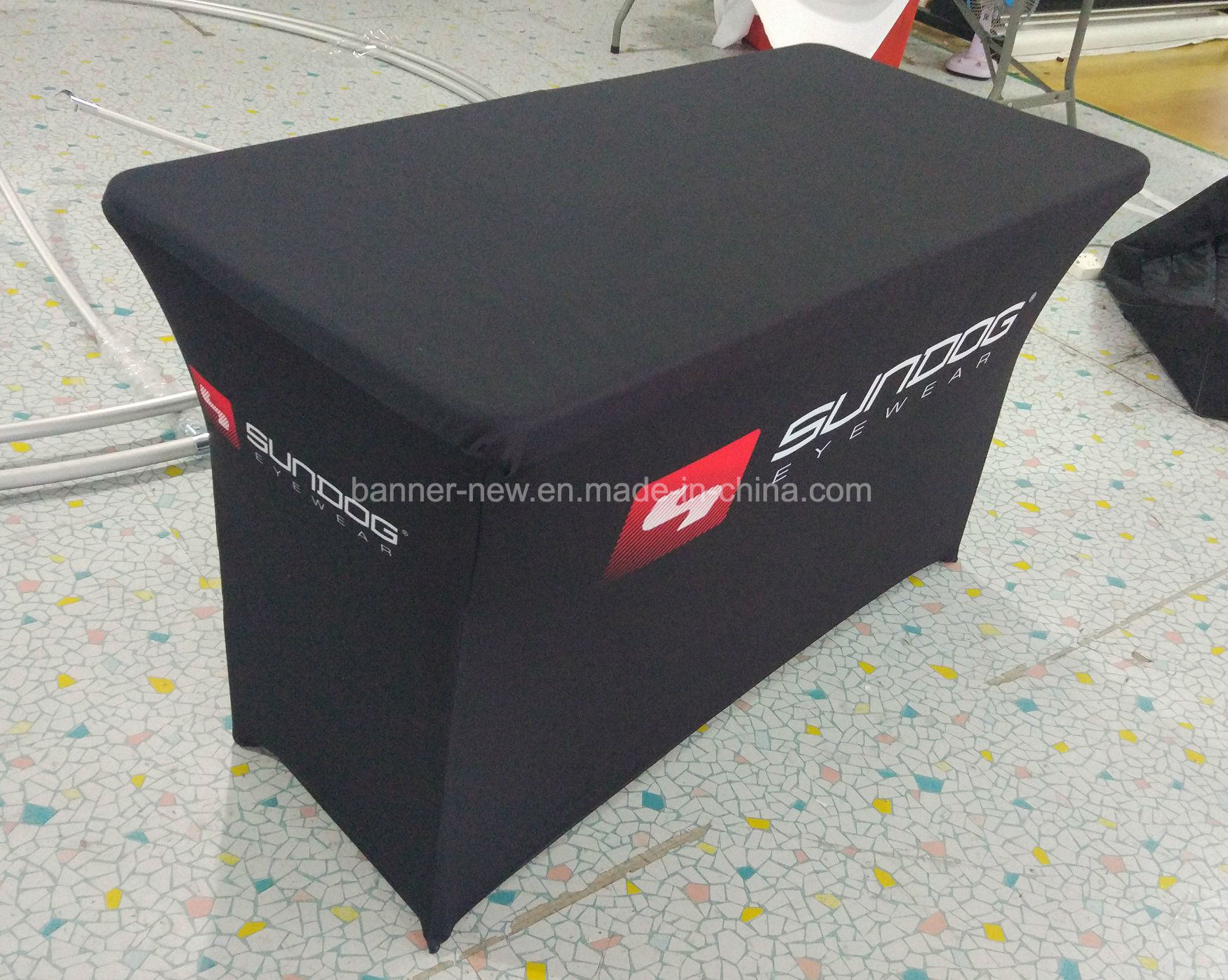 [Hot Item] Advertising Very Stretchy Material Table Cloth with Custom  Printed (XS-TC41)