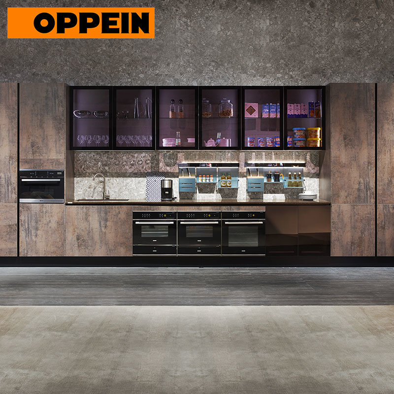 China Oppein Industrial Style Modern Linear Small Overall Kitchen Cabinets China Industrial Kitchen Cabinets Modern Kitchen Cabinets
