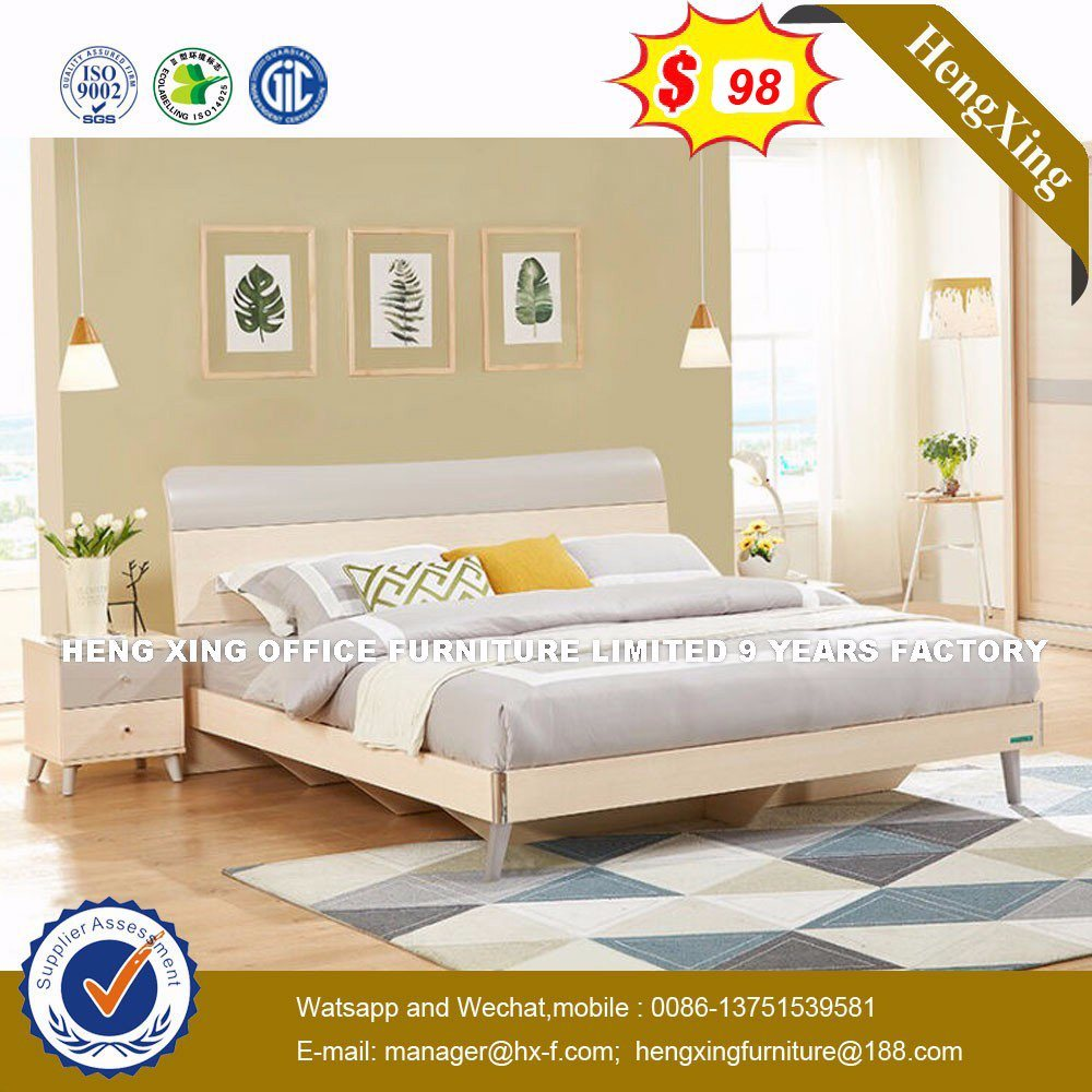 China Simple Design European Style Polywood King Size Bed Hx 8nr0828 Wood Modern