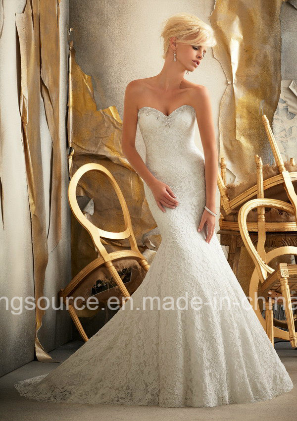 Empire Sweep Train Embroidary Princess Bridal Gown Tulle Wedding Dress