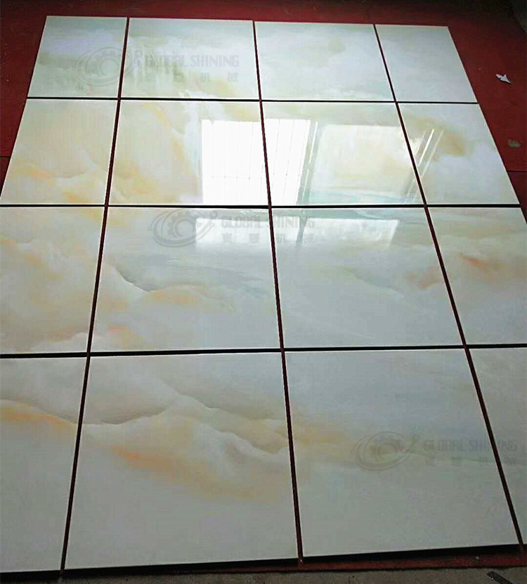 China Global Shining 3d Ceramic Tile Automatic Uv Varnish Coating