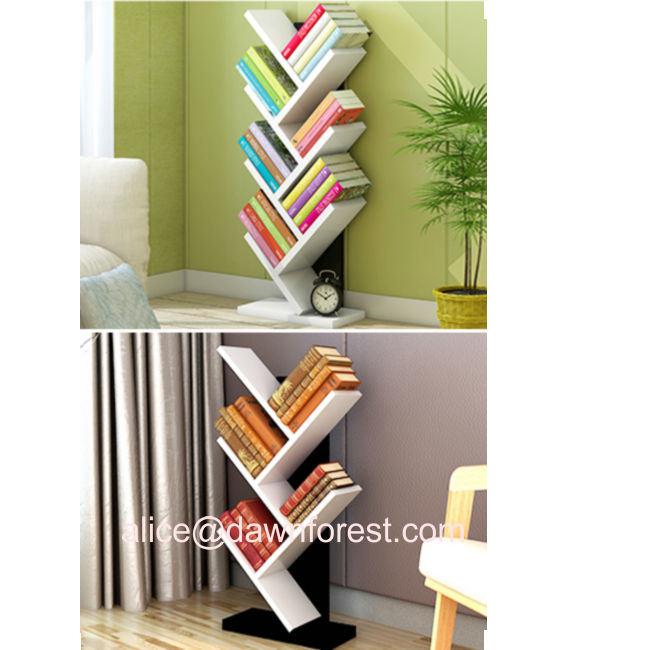 China Wooden Tree Simple Modern Stand Individual Bedroom Children Bookshelf China Mdf Partical Board Material Book Shelf Diy Shelf