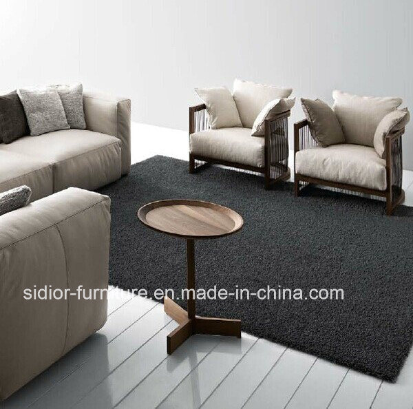 (SD-6005A) Modern Hotel Home Furniture Wooden Fabric Sofa with Arm pictures & photos