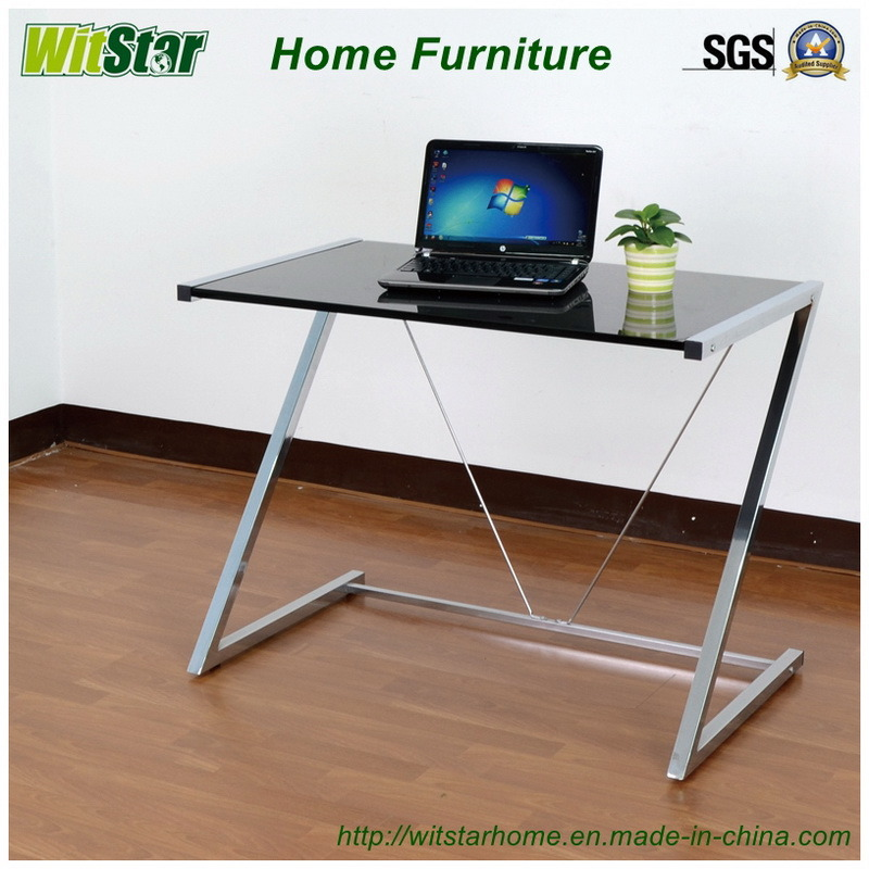 China Z Shaped Metal Glass Computer Desk Ws16 0009 For Home Furniture Office Student