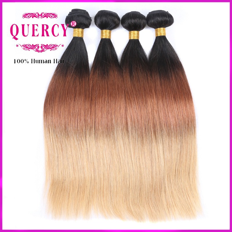 Omber Malaysian Virgin Hair Bundles Cheap Malaysian Human Hair Three Tone Hair Extension pictures & photos