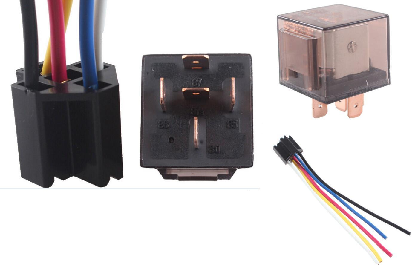 China Socket Spdt 5pin 5wire Dc Car Vehicle 12v Volt 80a Amp Relay Price Transparent Connector Auto Parts