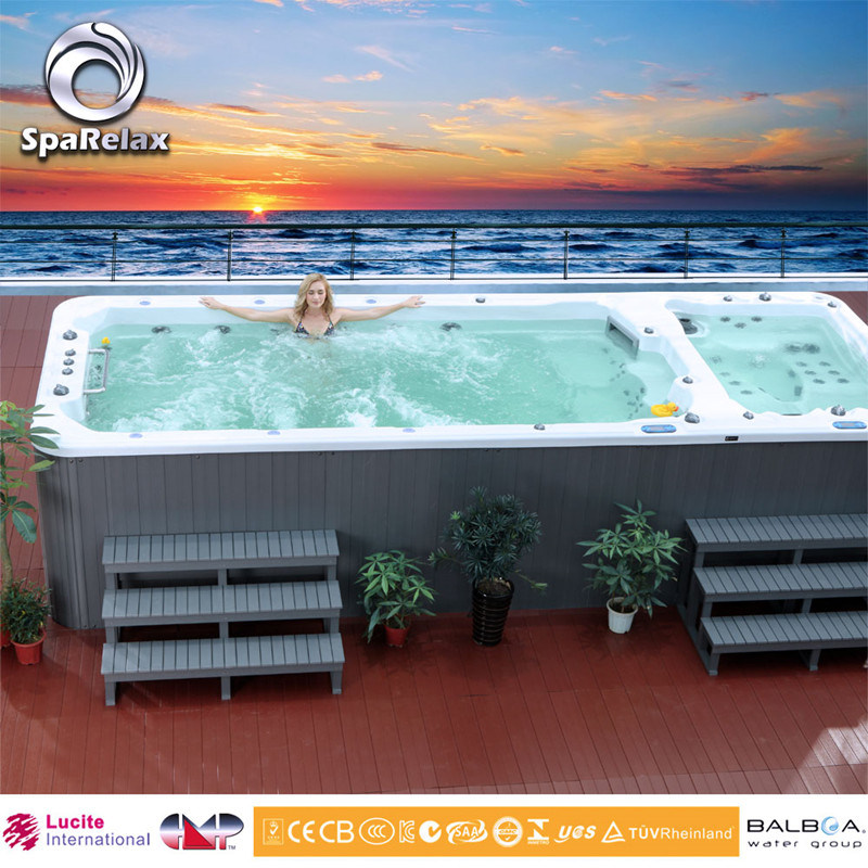 New Design Lucite Acrylic Endless Swimming Pool SPA