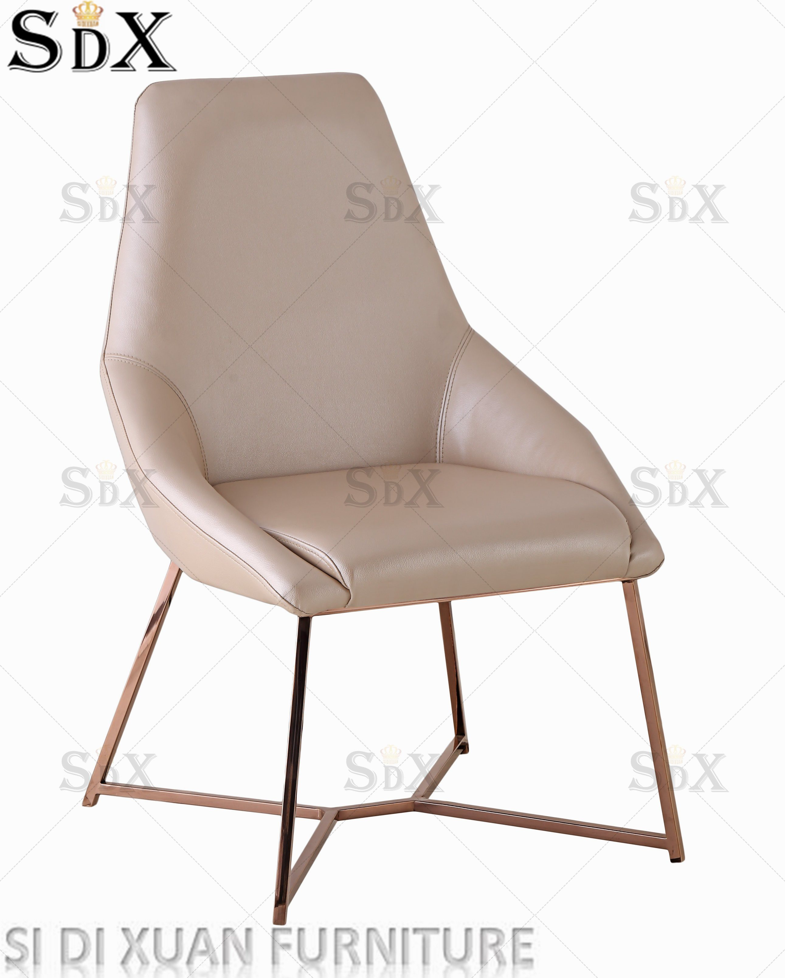 Hot Item Modern Simple Home Living Room Furniture Leisure Lounge Chair Stainless Steel Relax Chair