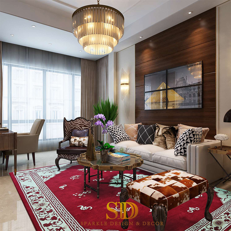 China Persian Design Red Carpet Of Flowers For Family Room Majlis In Modern Home Private Villa China Living Room Carpet Decorating Ideas And Living Room Carpet Colours Price
