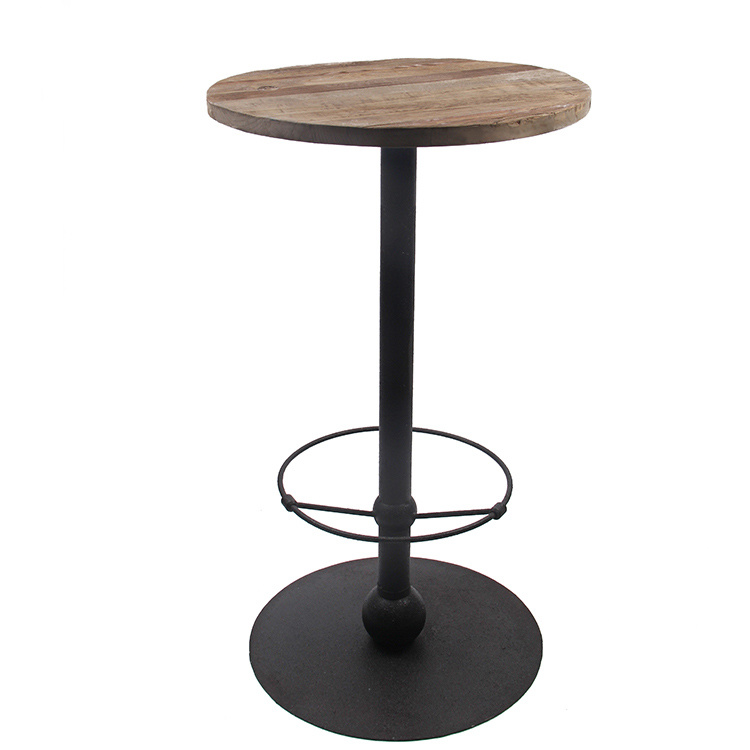 China Kvj 7423 Industrial Reclaimed, Round Wood Bar Table